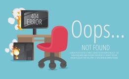 Website 404 pagina creatief concept De pagina die u kon hebt gevraagd royalty-vrije illustratie