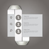 Website paper page design Royalty Free Stock Images