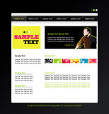 Website profile template Stock Photography