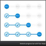 Website progess bar with four steps Stock Photography