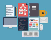 Website programming management royalty free illustration