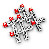 Website promotion. (cubes crossword series Royalty Free Stock Photography