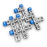Website promotion. (blue-white cubes crossword series Royalty Free Stock Photography