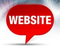 Website Red Bubble Background royalty free illustration