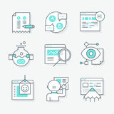 Website Redesign Icons Royalty Free Stock Photography