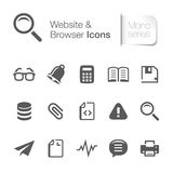 Website related icons mono. Stock Photos