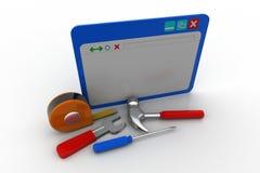 Website repair concept vector illustration
