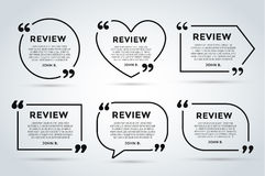 Website review quote blank template  Royalty Free Stock Photography