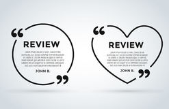 Website review quote citation blank template vector icon comment customer circle paper information text chat citing Stock Photo