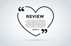 Website review quote citation blank template vector icon comment customer circle paper information text chat citing Royalty Free Stock Image