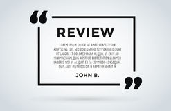 Website review quote citation blank template vector icon comment customer circle paper information text chat citing Stock Photography