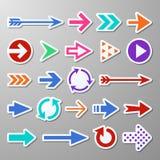 Website right arrow stickers. Directional arrows signs. Progress arrow vector symbols vector illustration