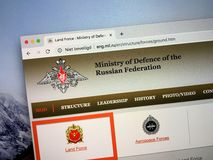 Website of The Russian Ministry of Defence royalty free stock photography