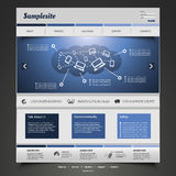 Website-Schablone lizenzfreie abbildung