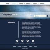 Website-Schablone für Ihr Geschäft Lizenzfreie Stockfotos