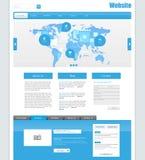 Website-Schablone für Ihr Geschäft Lizenzfreies Stockbild