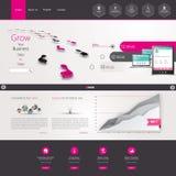 Website-Schablonen-Design ENV 10 Lizenzfreie Stockfotos