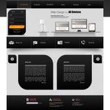 Website-Schablonen-Design ENV 10 Lizenzfreies Stockfoto