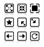 Website screen icons set - full screen, minimize, Royalty Free Stock Images