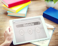 Website Search Bar Player Globe Cloud Icon Concept Royalty Free Stock Image