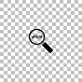 Website search icon flat royalty free illustration