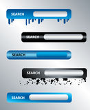 Website search boxes vector. On silver background Royalty Free Stock Photos