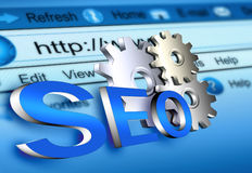 Website seo. Web site search engine optimization concept Royalty Free Stock Images