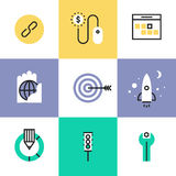 Website and SEO development pictogram icons set Royalty Free Stock Photography