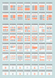 Website sitemaps flat icons set Stock Image