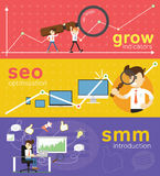 Website SMM and SEO optimization. Stock Image
