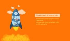 Website som snart lanserar Royaltyfria Foton