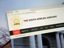 Website of The South African judiciary. Amsterdam, the Netherlands - September 12, 2018: Website of The South African judiciary royalty free stock photo
