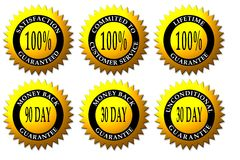 Website Sticker Seals Royalty Free Stock Photos