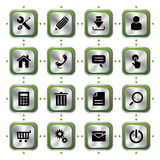 Website stylish icons set Stock Photography