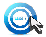 Website target illustration Royalty Free Stock Photos