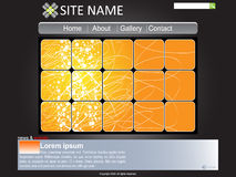Website template. Modern website template vector illustration Royalty Free Stock Photo