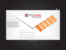 Website template. Modern website template  illustration Stock Photography