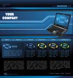 Website Template. Vector Scalable Template of Website