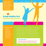 Website Template. A colorful website template for a children's website Royalty Free Stock Photos