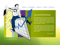 Website template Stock Images