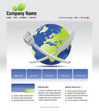 Website template. You can easly edit it by adobe illustrator, flash or photoshop to publish it as  web pages Stock Images