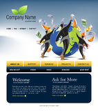 Website template. You can easly edit it by adobe illustrator, flash or photoshop to publish it as  web pages Stock Photography