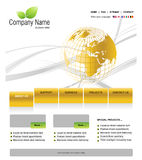 Website template. You can easly edit it by adobe illustrator, flash or photoshop to publish it as  web pages Stock Photo