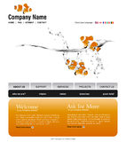 Website template. You can easly edit it by adobe illustrator, flash or photoshop to publish it as  web pages Royalty Free Stock Images