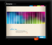 Website template. Colored website template. Vector art Royalty Free Stock Photo