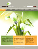 Website Template. Editable web site design template Royalty Free Stock Image