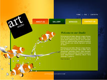 Website Template. Editable web site design template Royalty Free Stock Photo