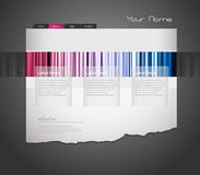 Website template. Colored website template. Vector art Royalty Free Stock Photography