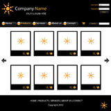 Website template. A black and orange colored website template.EPS file available Stock Photo