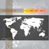 Website template. For summer design Stock Image